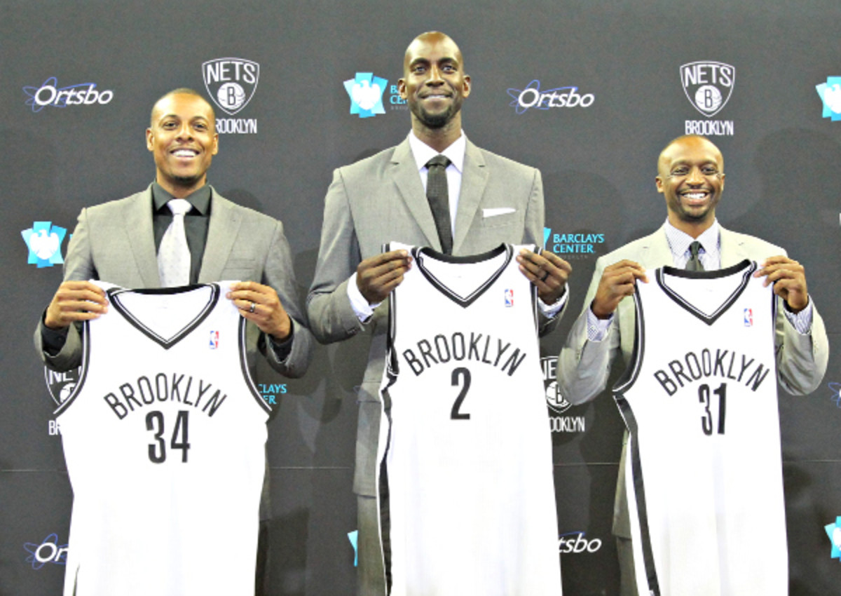 Paul Pierce, Kevin Garnett, and Jason Terry will give the Nets a boost this season. (Nathaniel S. Butler/NBAE via Getty Images)