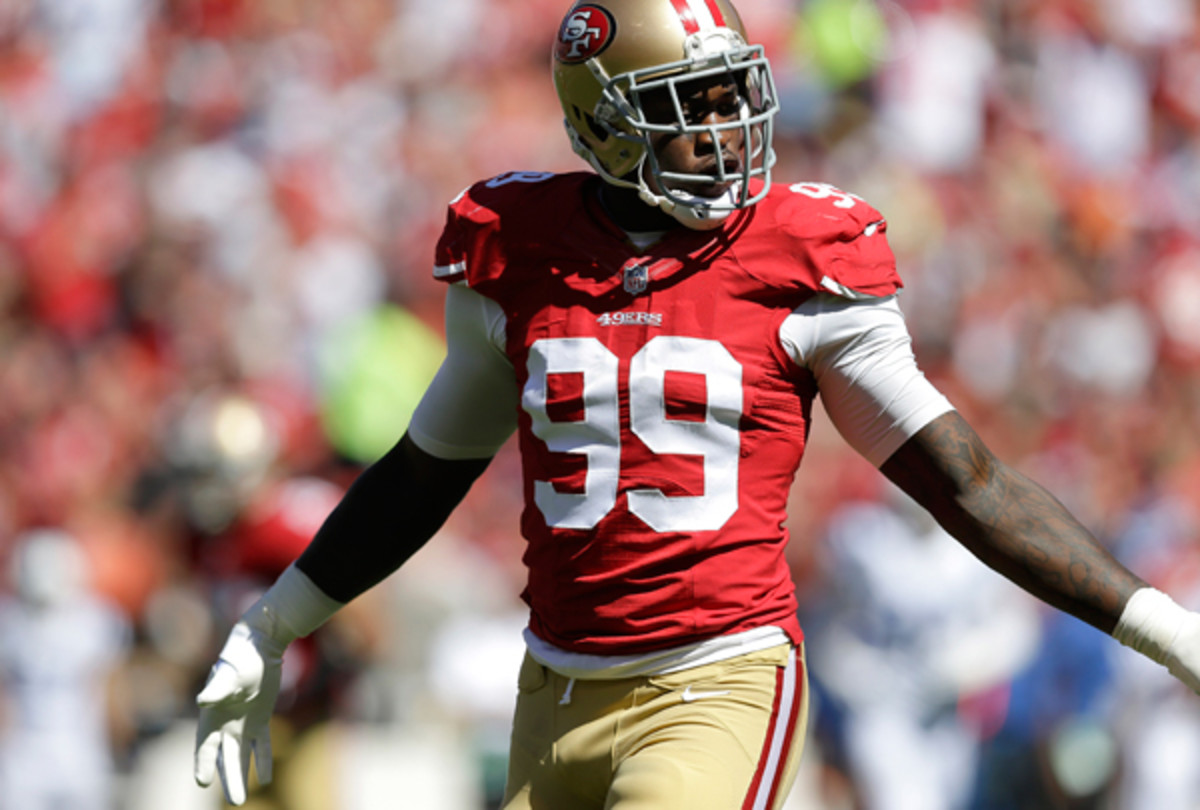 This may be the last you see of Aldon Smith you see on the field for a while.