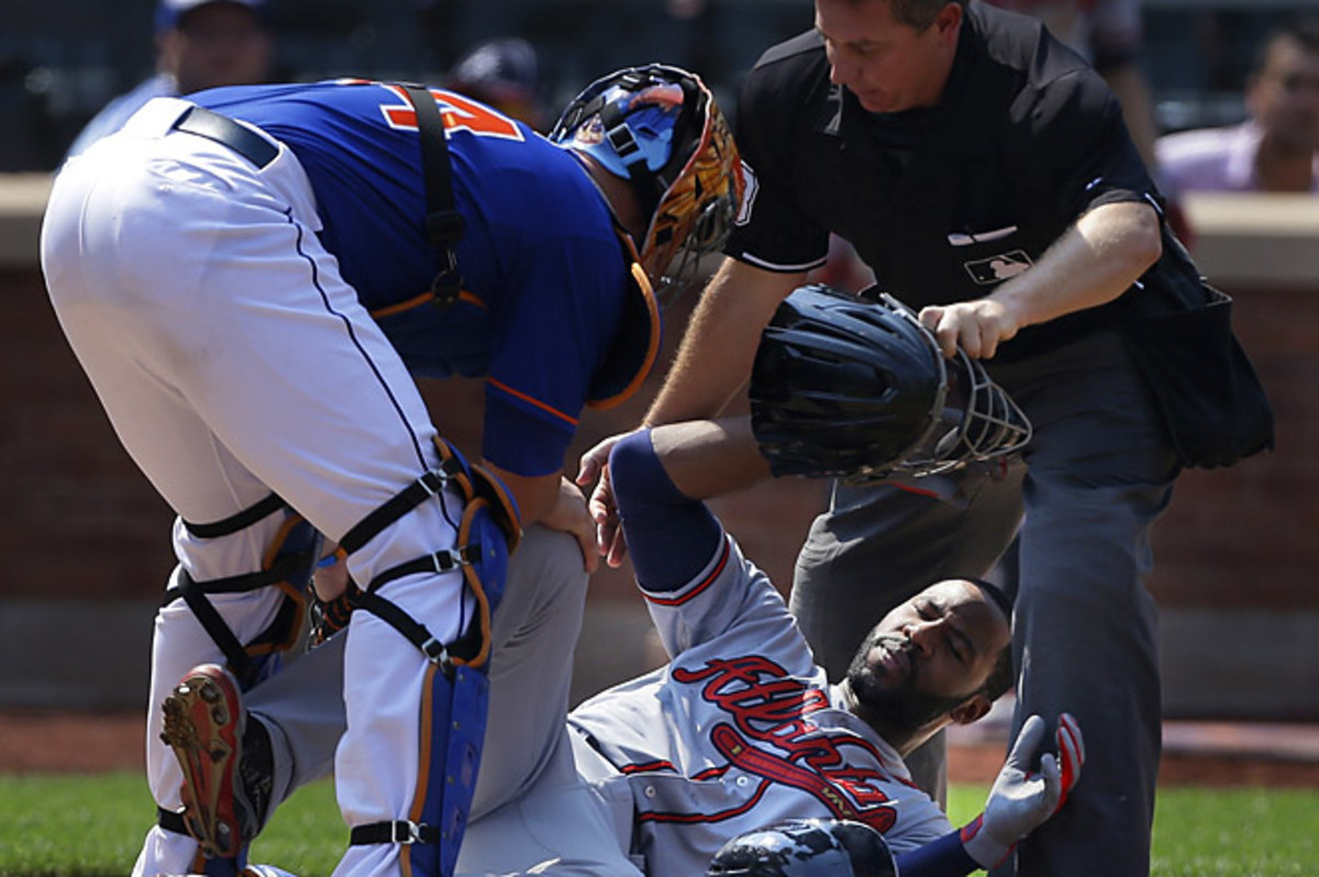 Heyward may have to miss the rest of the regular season after being struck in the face with a pitch.