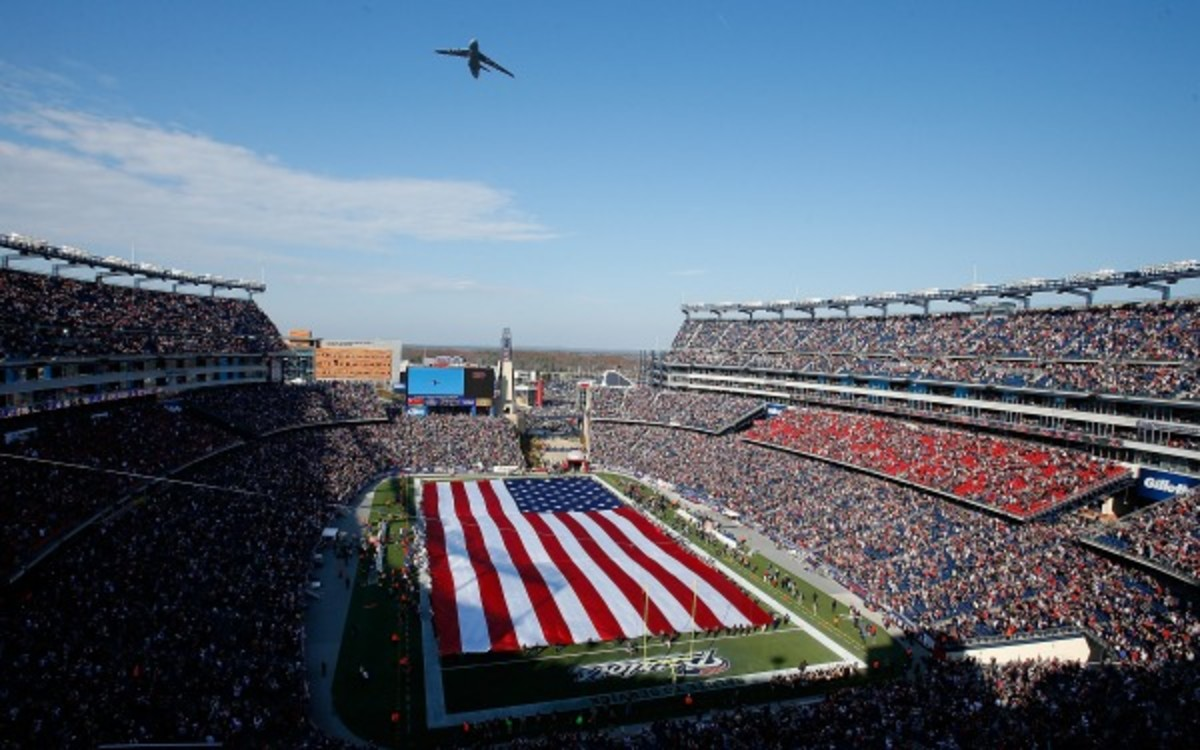 A woman is suing the Patriots after her husband died at Gillette Stadium in 2010. (Jim Rogash/Getty Images)