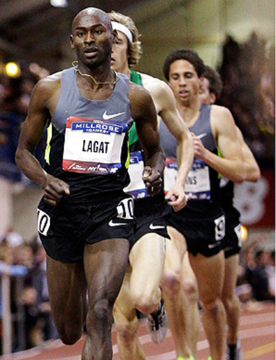 Bernard Lagat has specialized in the 1,500 meters and the 5k throughout his running career.