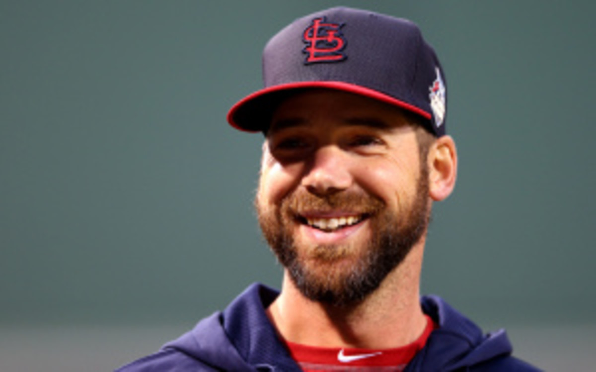 The 38-year-old Chris Carpenter has a 95-44 record in St. Louis, finishing with a 3.07 ERA in nine seasons with the Cardinals. (Elsa/Getty Images)