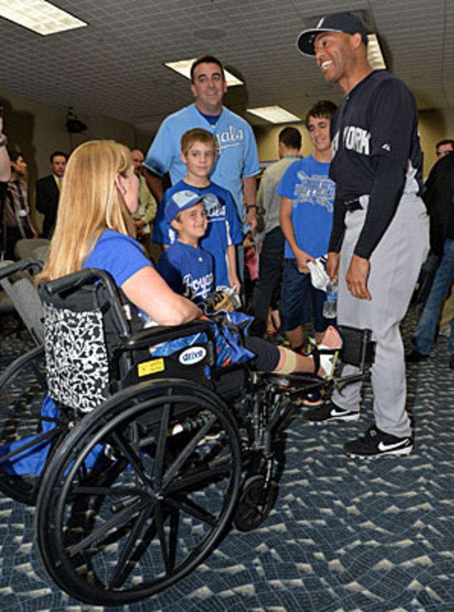 Rivera meeting the Bresette family in Kansas City on May 11.