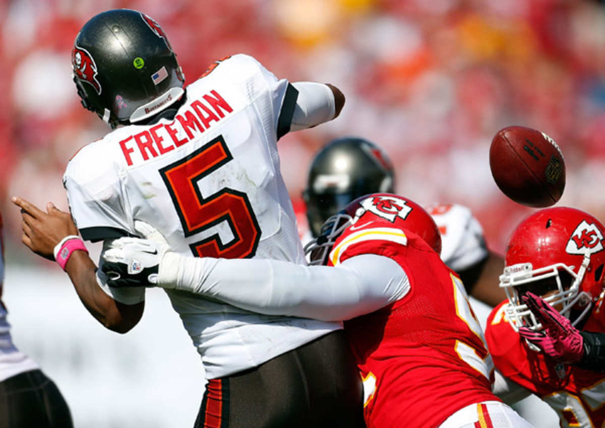 Josh Freeman's 39 interceptions over the past two seasons tie him with Ryan Fitzpatrick for most in the NFL.