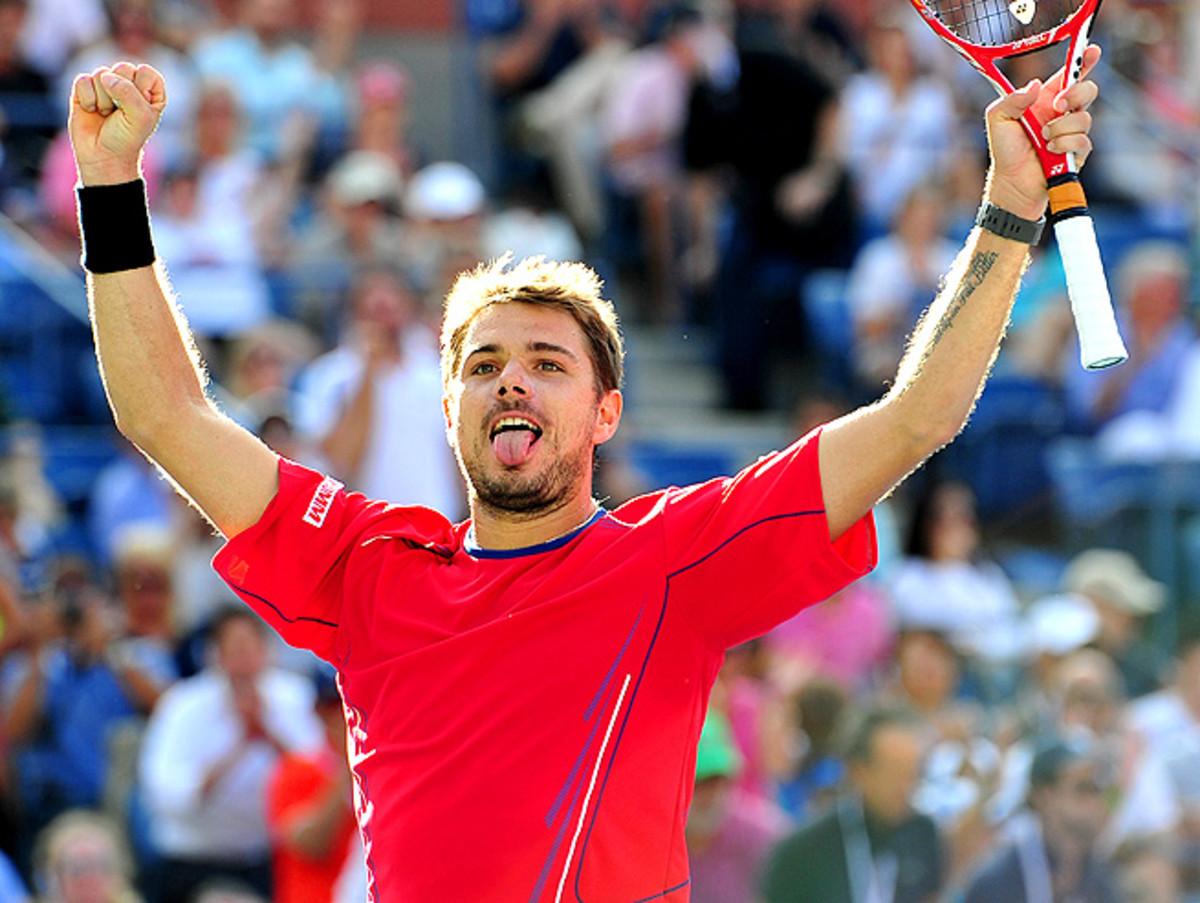 Stanislas Wawrinka never faced a break point from Andy Murray during their quarterfinal matchup.