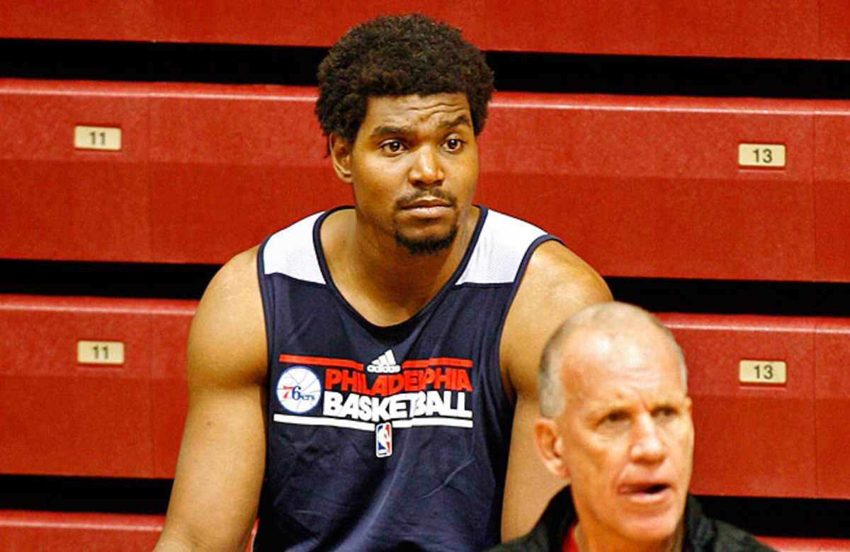 Andrew Bynum failed to appear in a single game for the Sixers last season.