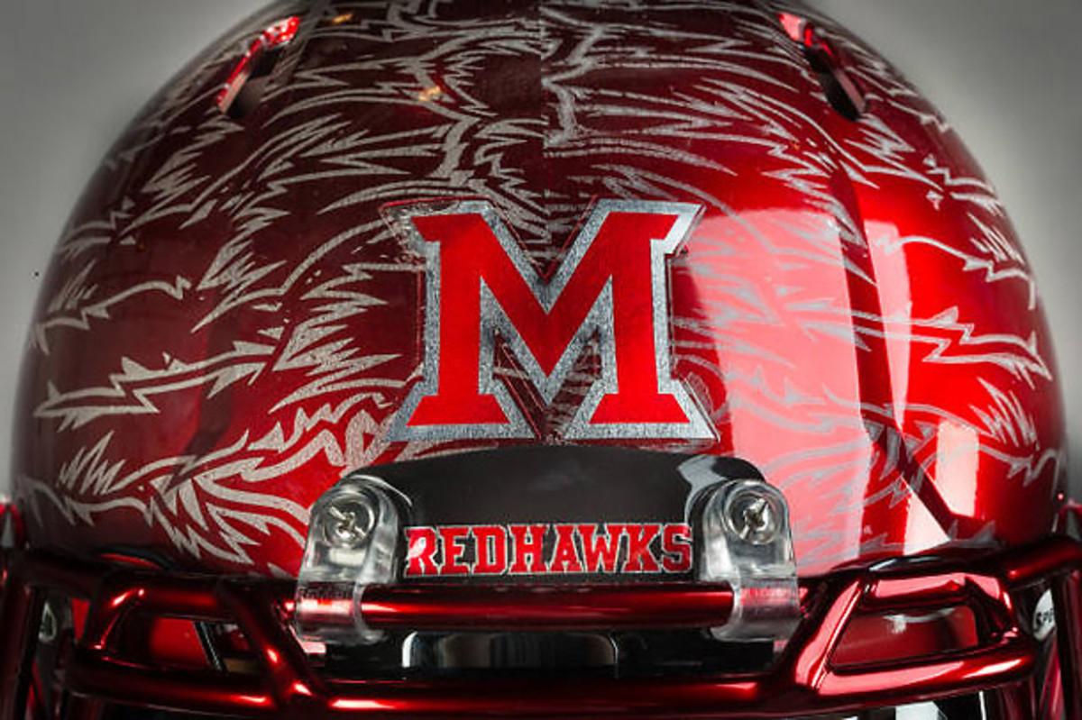 Miami (Ohio) RedHawks helmets