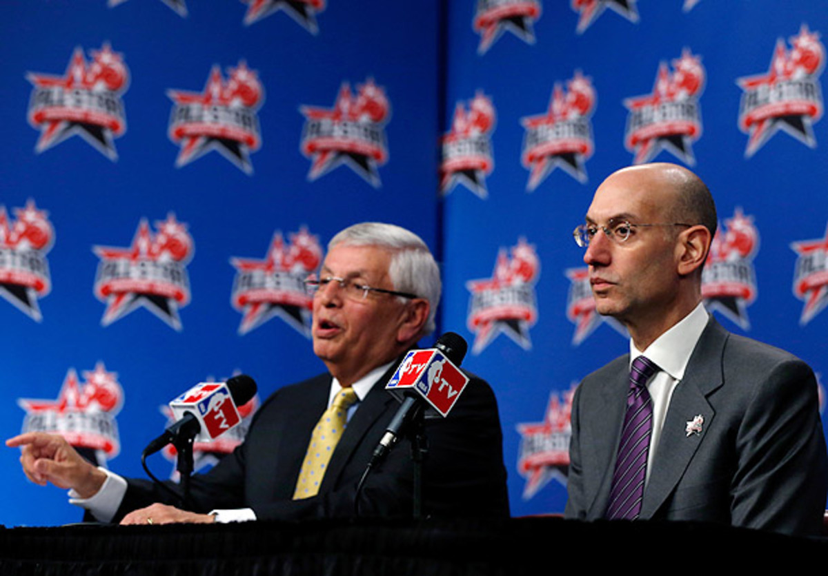 David Stern and Adam Silver hold a State of the Union press conference