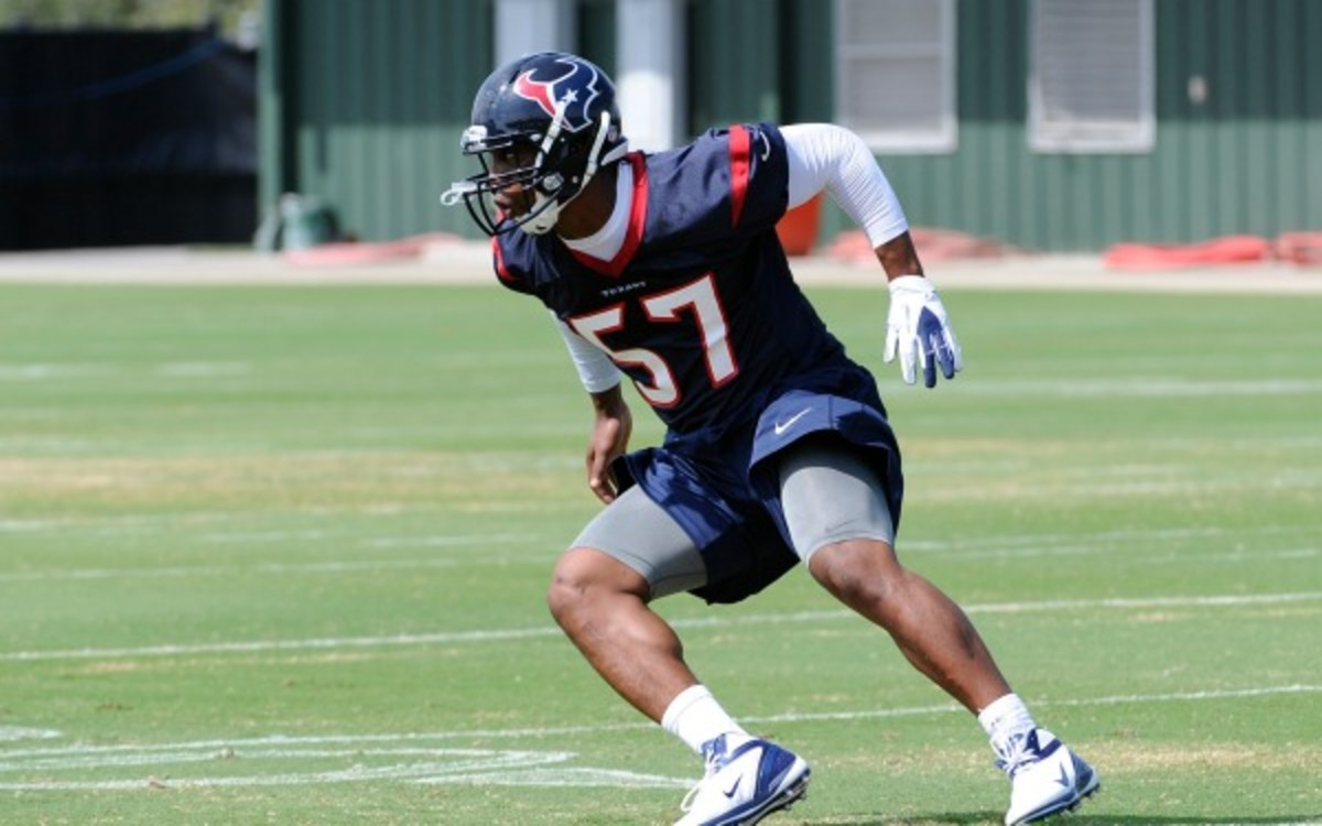 The Texans cut rookie Sam Montgomery and two other for violating team rules (AP Photo/Pat Sullivan)
