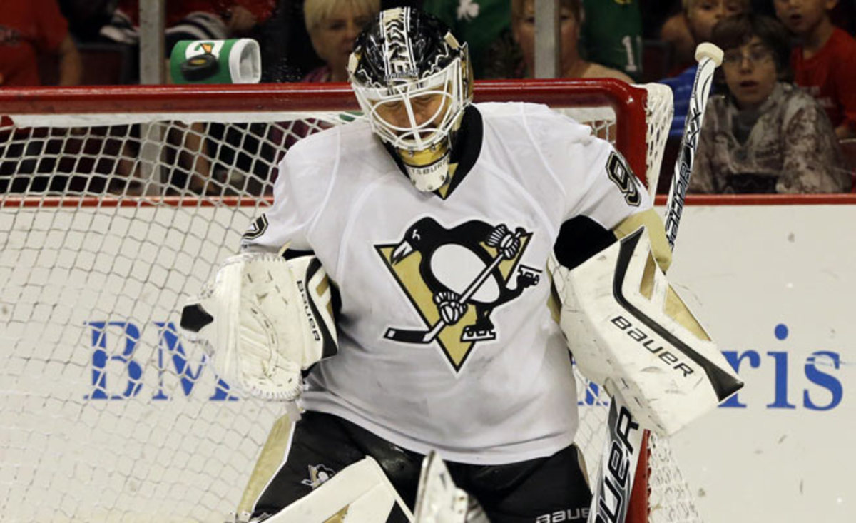 Tomas Vokoun went 13-4-0 in 20 games for the Pens in a lockout-shortened campaign.