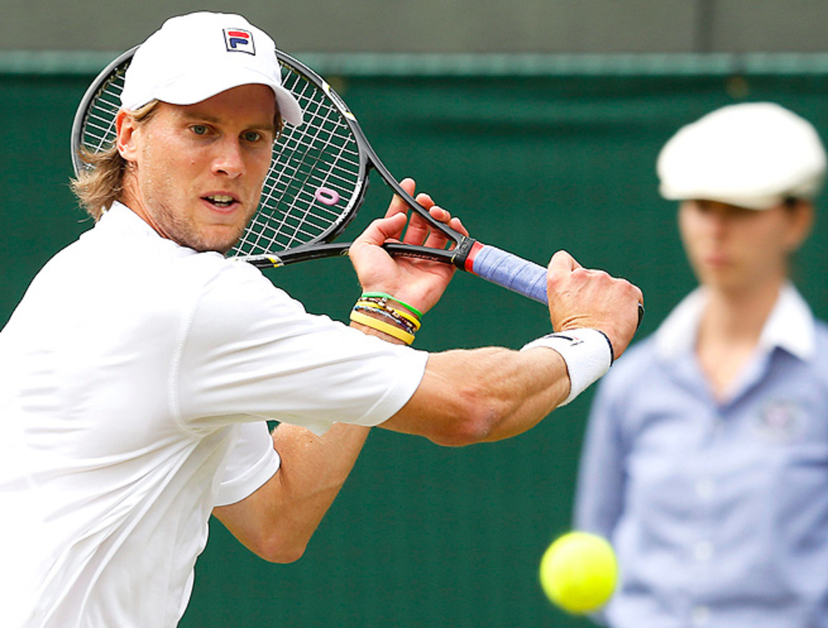 Andreas Seppi advanced at the Croatia Open when Andreas Haider-Mauer retired with an injury.