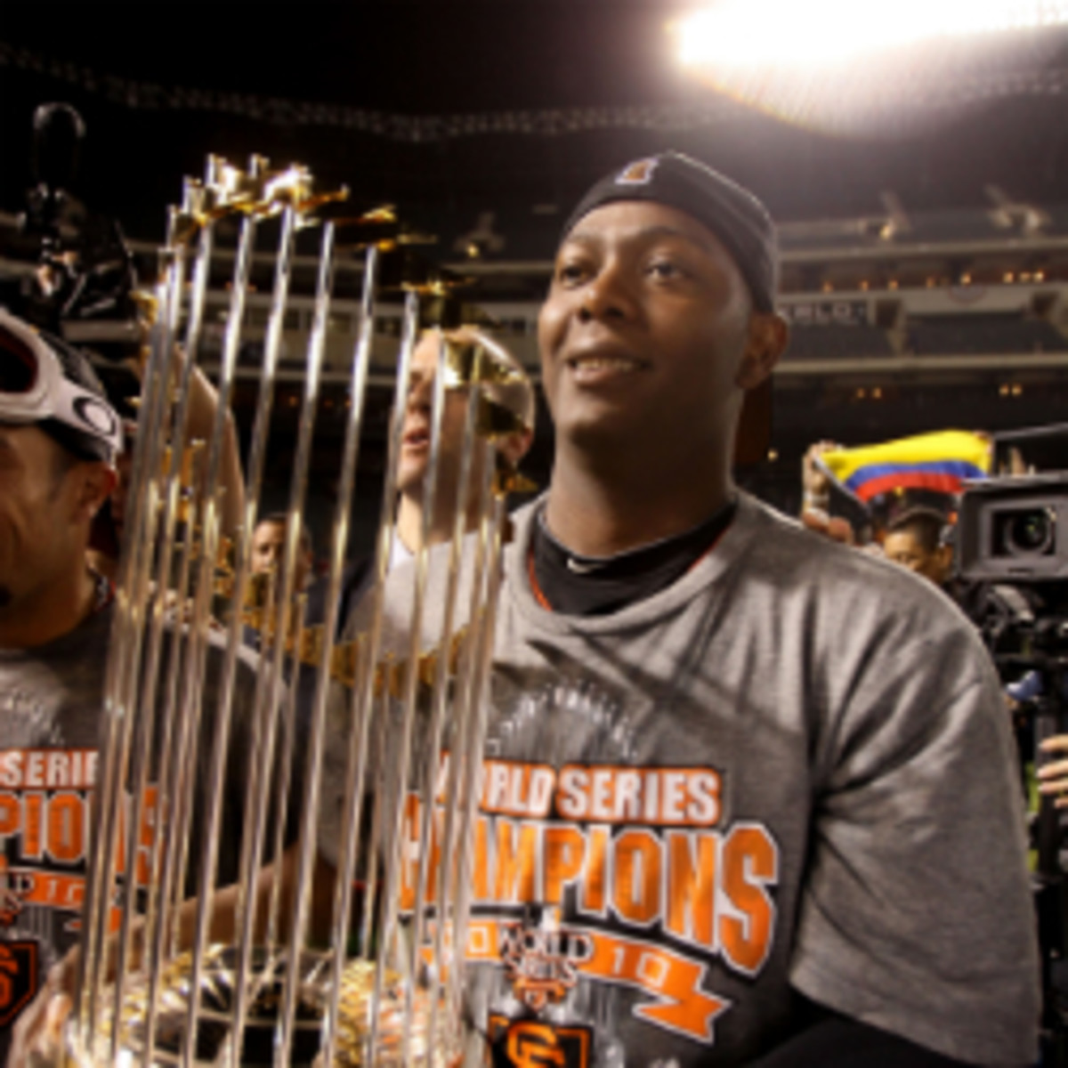 A two-time World Series MVP, Edgar Renteria officially announced his retirement on Thursday. (Elsa/Getty Images)
