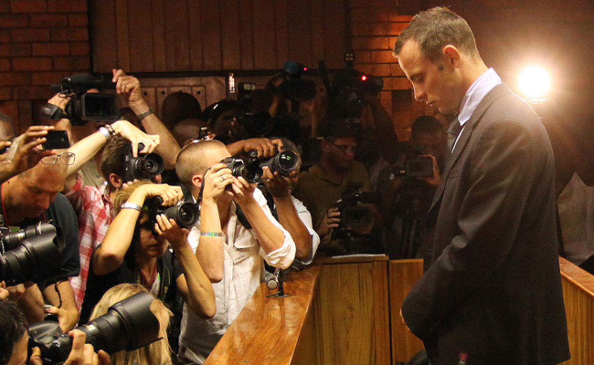 Oscar Pistorius has no immediate plans to compete after killing his girlfriend in February.