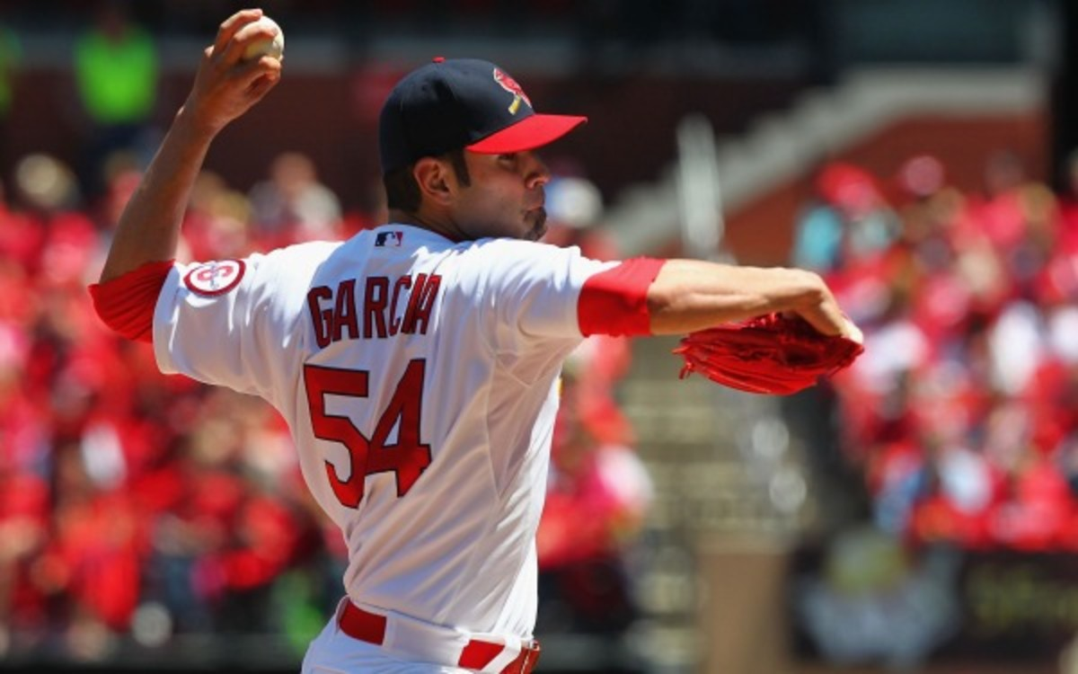 The Cardinals placed Jaime Garcia on the DL with a shoulder strain. (Dilip Vishwanat/Getty Images)
