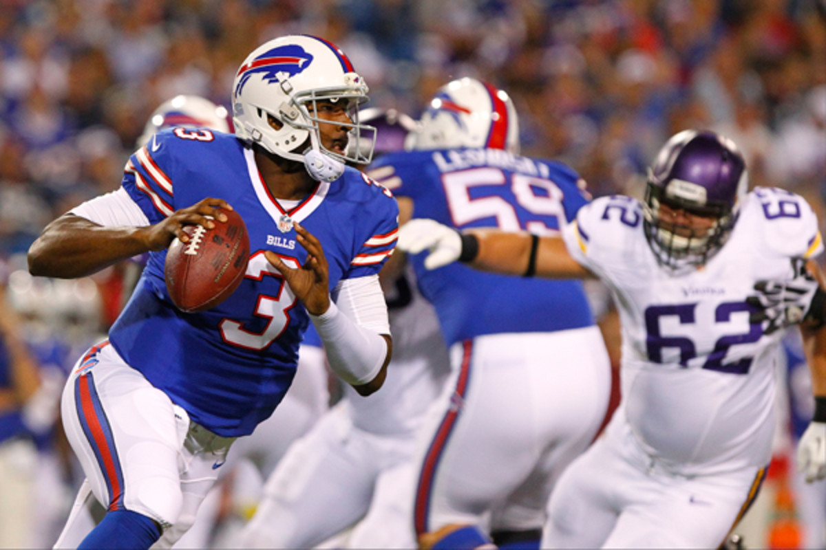 EJ Manuel's quest to start for the Bills just hit a snag. (Bill Wippert/AP)