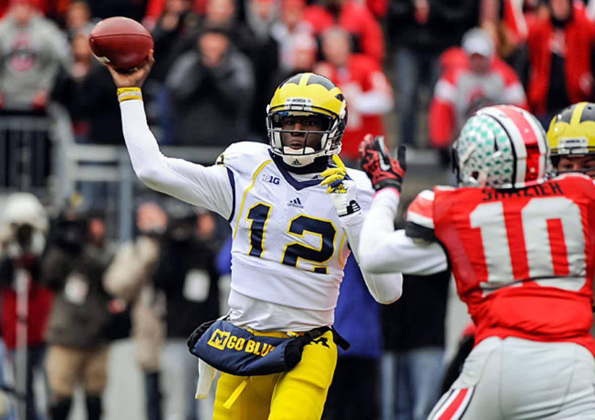 Devin Gardner passed for 1,480 yards in Michigan's final five games, including 171 against Ohio State.