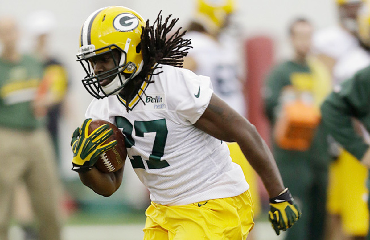 The Packers selected Eddie Lacy out of Alabama in the second round of the draft.
