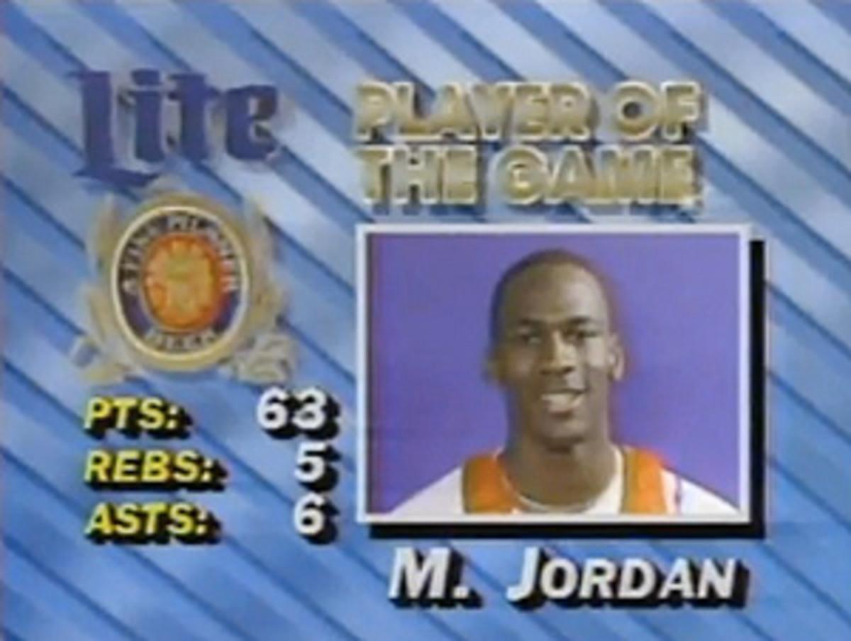 Michael Jordan scored 63 points against the Celtics in 1986