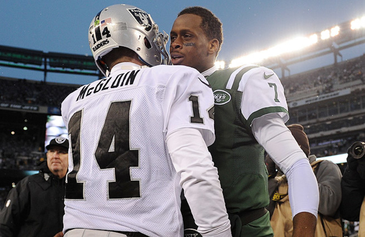 Matt McGloin and Geno Smith (right) are trying to prove they can be long-term starters in the NFL.