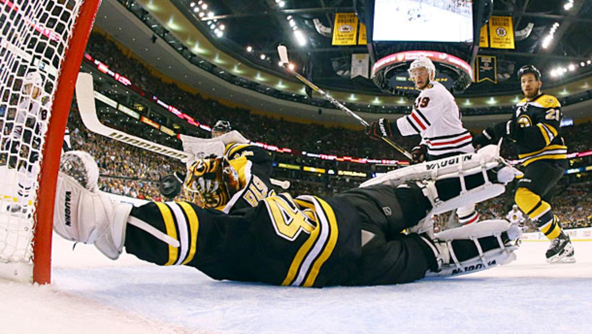 Tuukka Rask in Stanley Cup Final Game 4