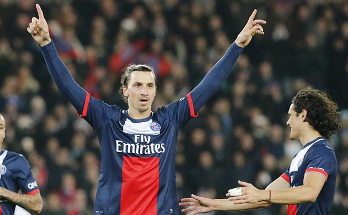 Zlatan Ibrahimovic scored a penalty kick against Lyon to make him the top scorer in Ligue 1.