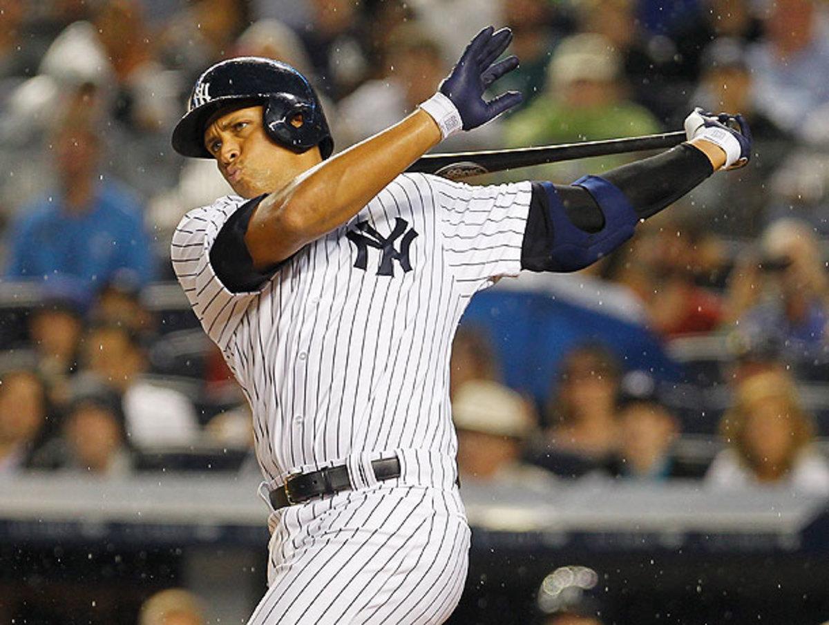 Alex Rodriguez swung through strike three in his first at-bat at Yankee Stadium since the Biogenesis scandal.