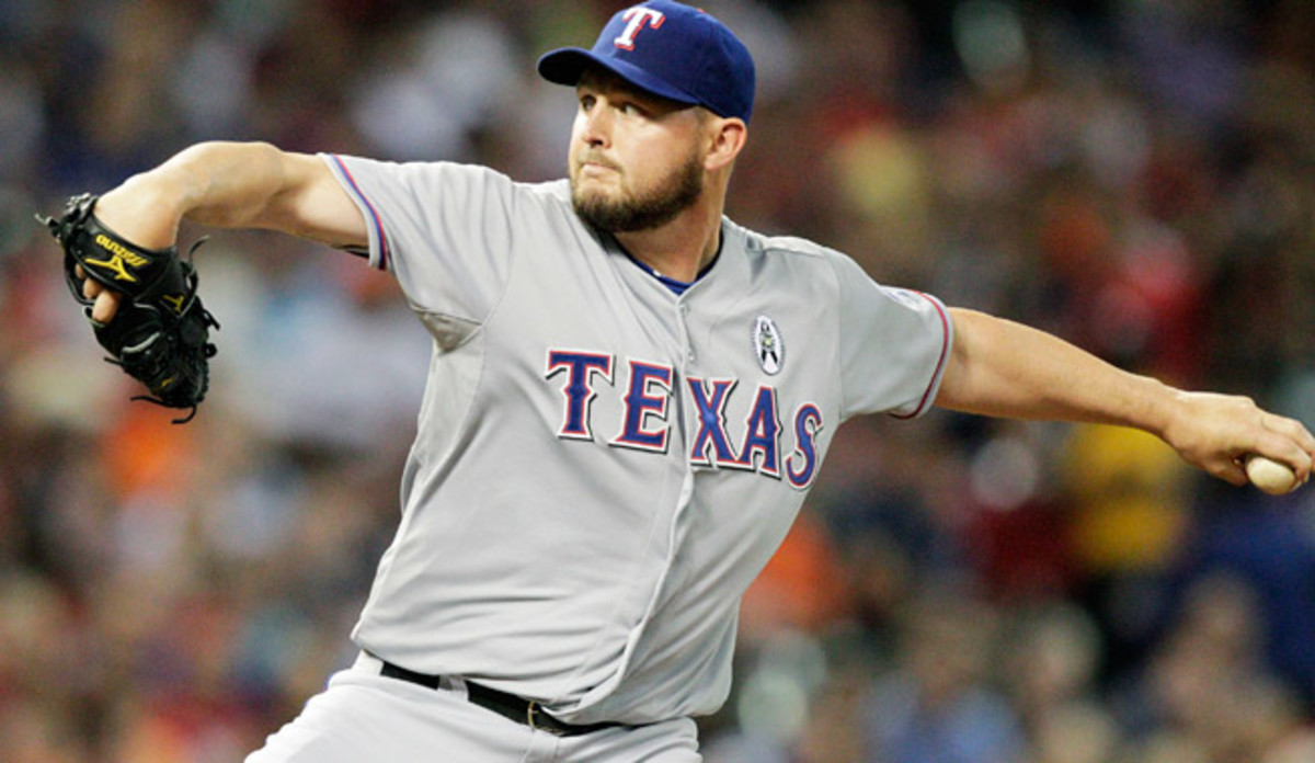 Matt Harrison has thrown just 10.2 innings this year, allowing 10 earned runs in two losses for Texas.
