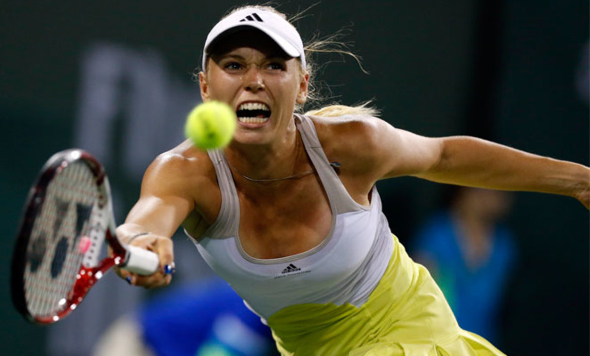 Caroline Wozniacki's semifinal against Angelique Kerber took 2 and 1/2 hours and included seven final-set service breaks.