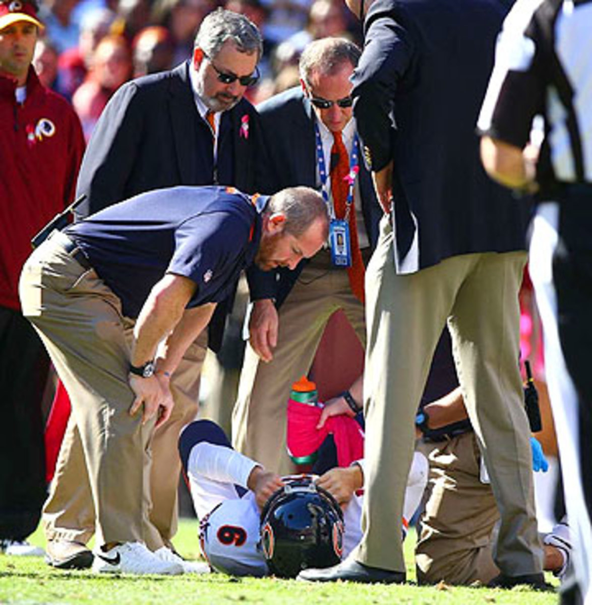Cutler has missed time this season with a groin injury, as well as a high-ankle sprain. (Simon Bruty/SI)