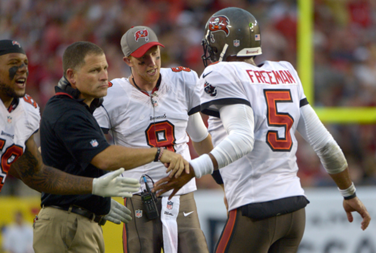 Buccaneers head coach Greg Schiano has made the move from Josh Freeman to Mike Glennon.
