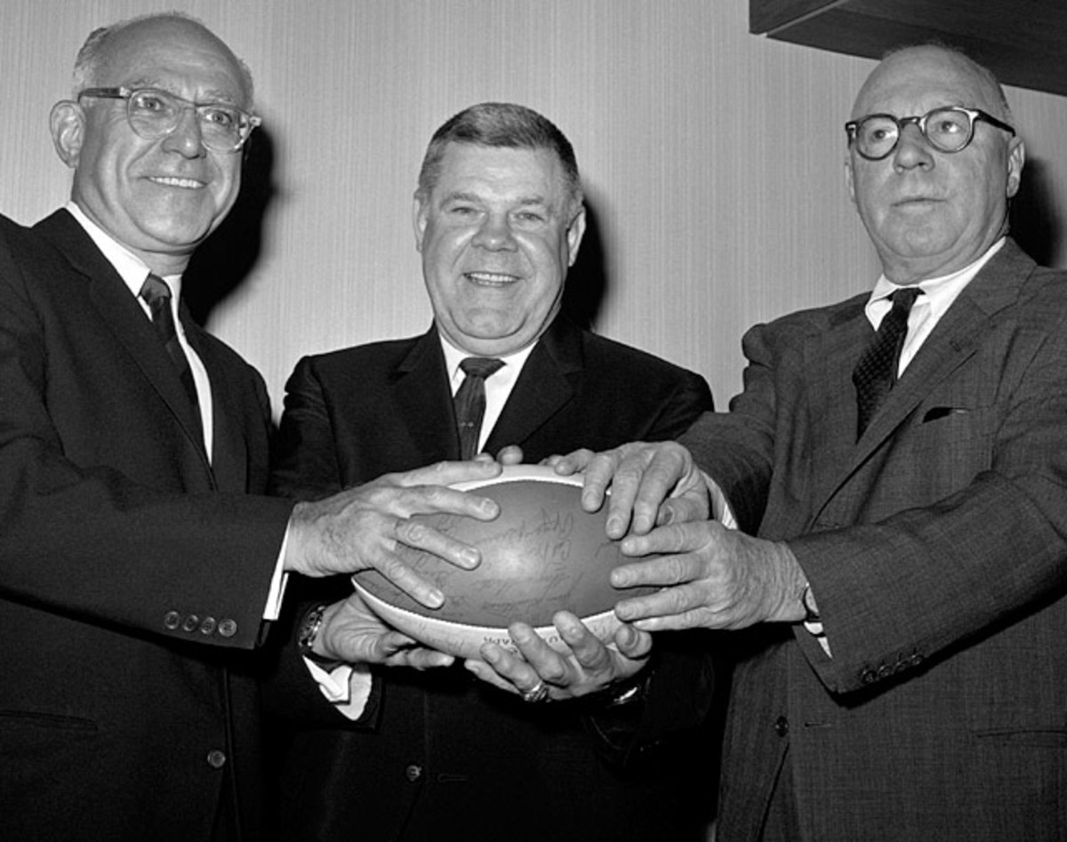 Sonny Werblin, Weeb Ewbank and Donald C. Lillis