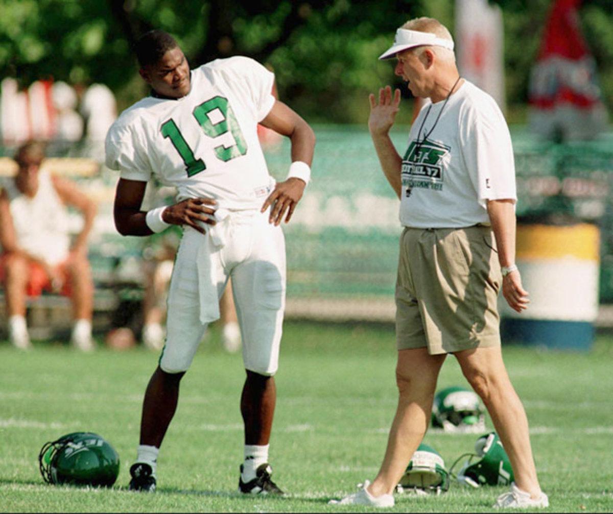 Keyshawn Johnson and<br> Bill Parcells