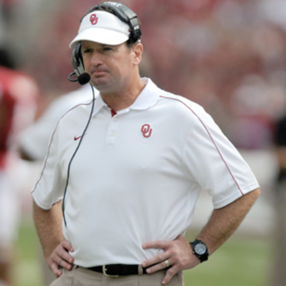 Bob Stoops said the bottom half of the Big 12 compares well to the SEC's worst teams. (Jackson Laizure/Getty Images)