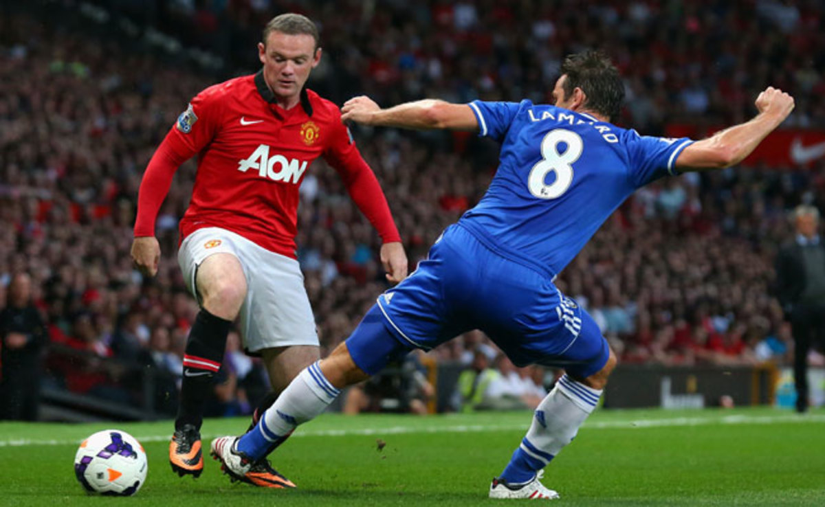 Wayne Rooney's name was sung numerous times by Manchester United -- and Chelsea -- fans.