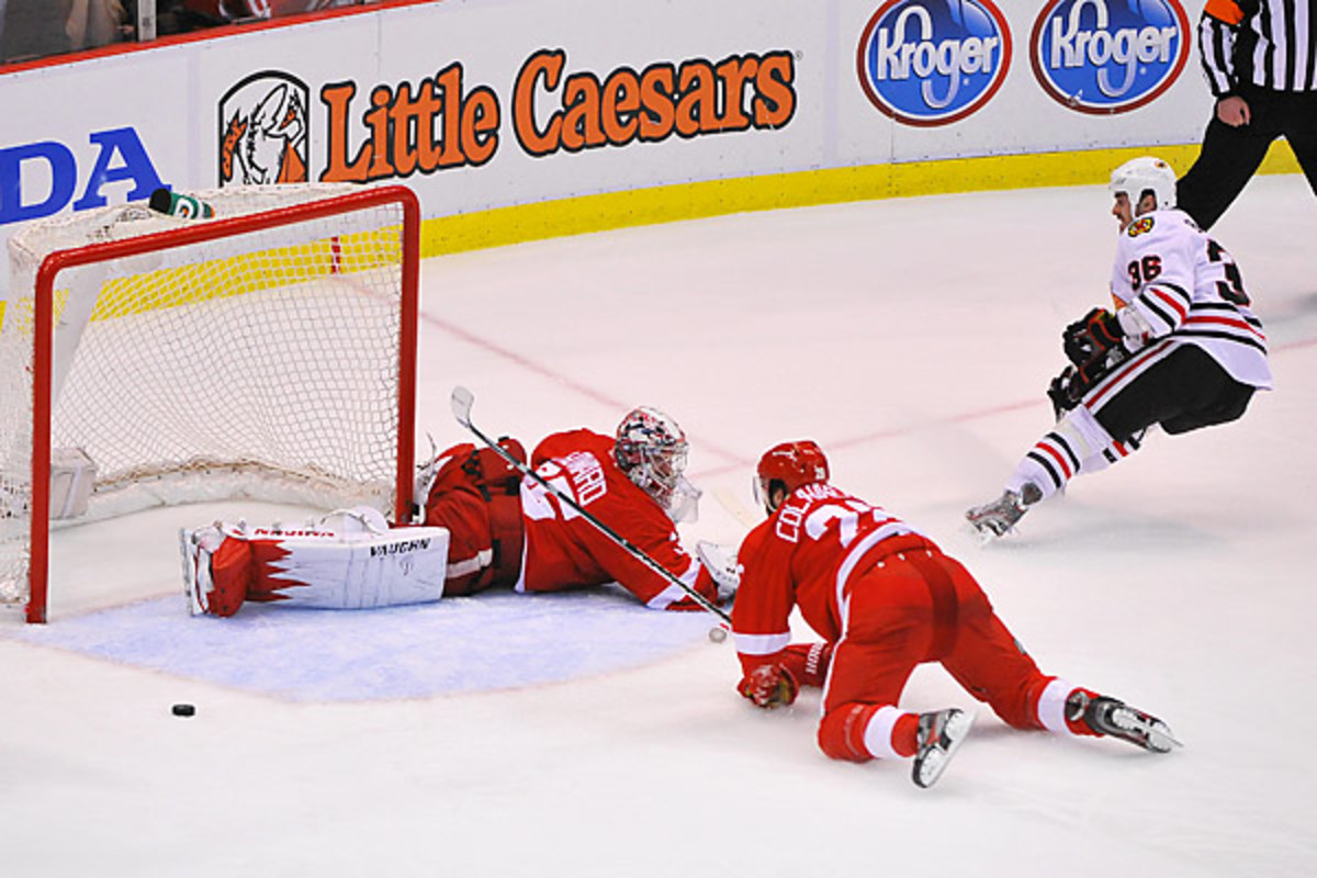 Jimmy Howard Game 4 NHL Playoffs Red Wings