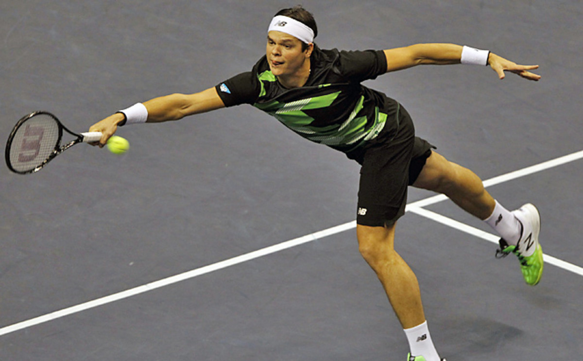 Milos Raonic became the first player in the Open era that began in 1968 to win this tournament three straight times.
