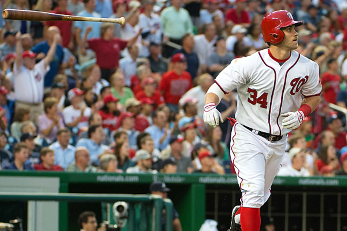 Bryce Harper hit a solo homer in the third inning. MCT/Getty Images