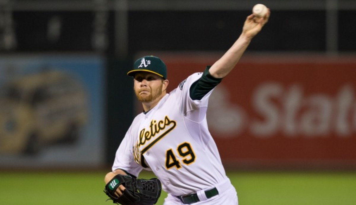 Brett Anderson has a stress fracture in his right foot. (Photo by Jason O. Watson/Getty Images)
