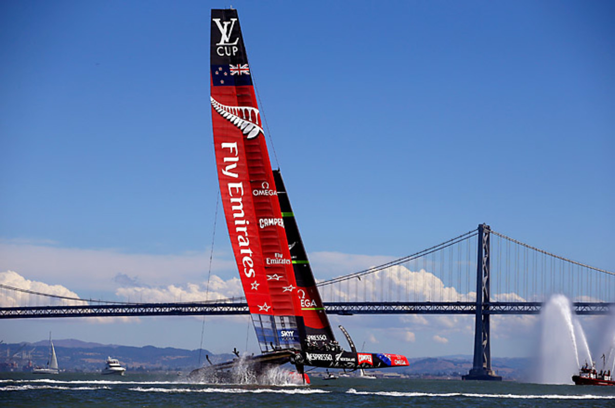 This is the fifth time since 1995 Team New Zealand has reached the America's Cup match.