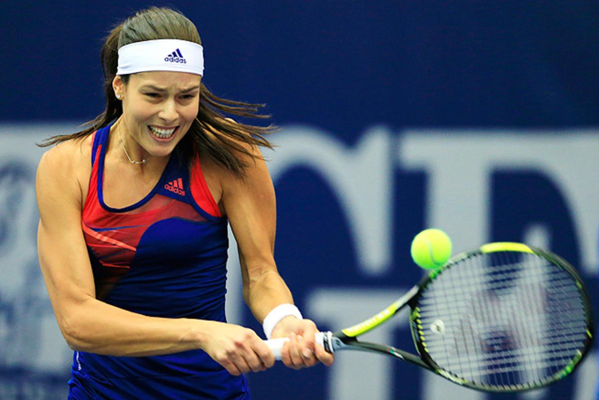 Ana Ivanovic cruised to victory over Tsvetana Pironkova 6-0, 6-2 in round-robin play at Tournament of Champions.