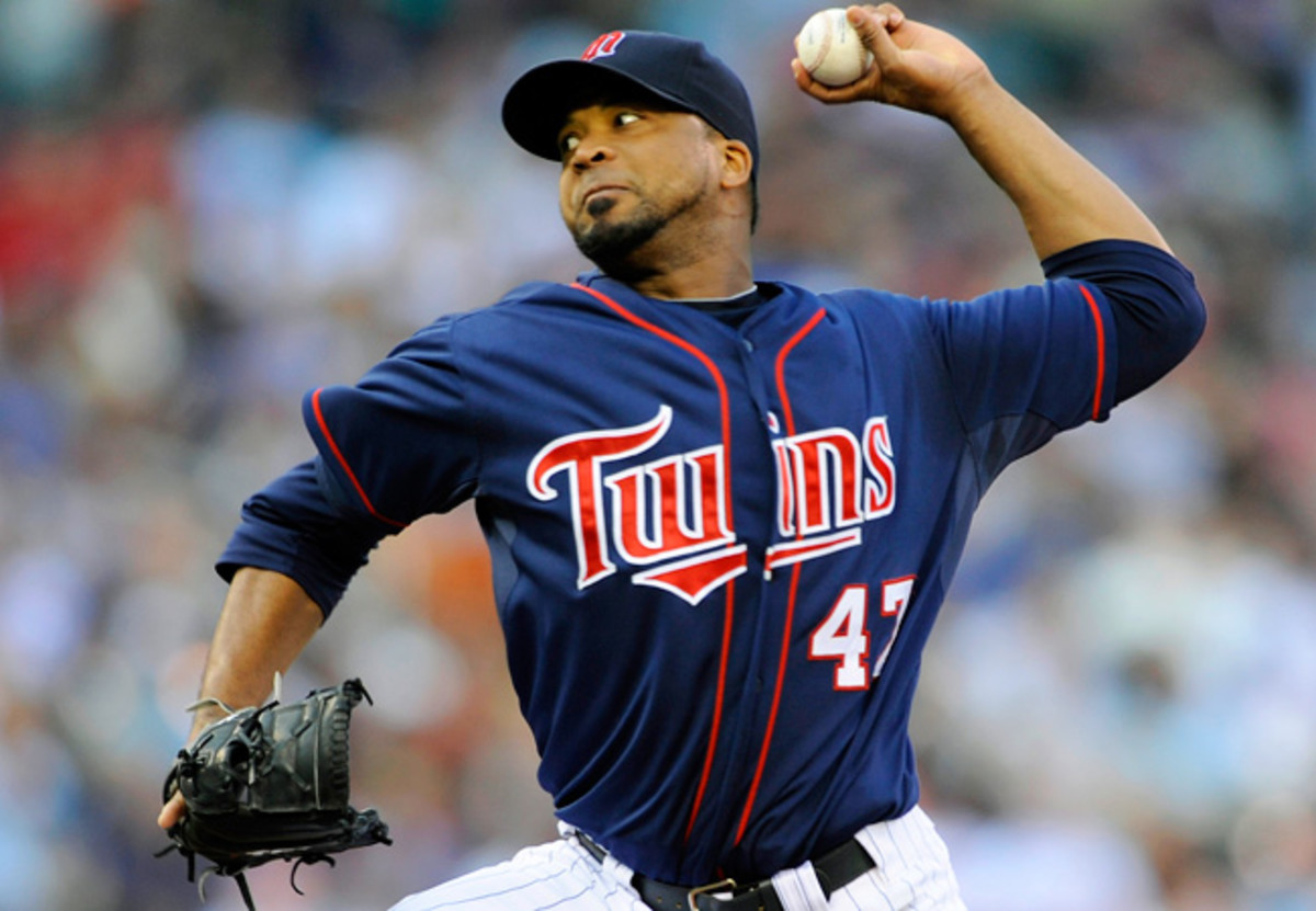 Francsico Liriano spent parts of seven season with the Twins while also pitching for the Jays and White Sox in 2012.