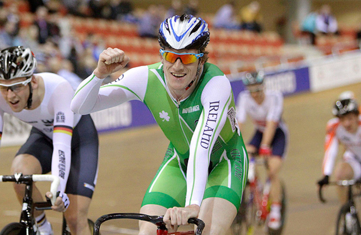 Martyn Irvine won Ireland's first men's world track cycling championship medal in 116 years.