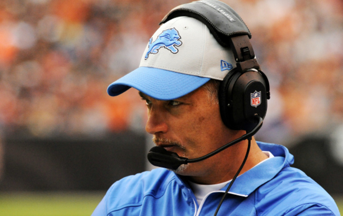 Jim Schwartz took over a Lions team which had gone 0-16 the previous season. (Diamond Images)