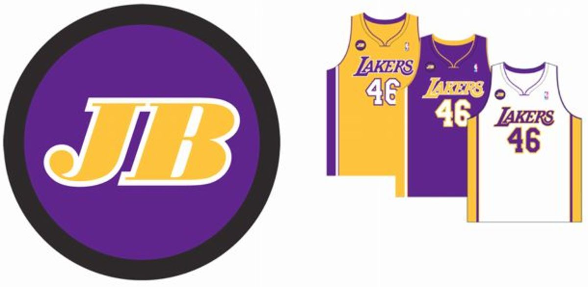 The Lakers' Jerry Buss memorial patch