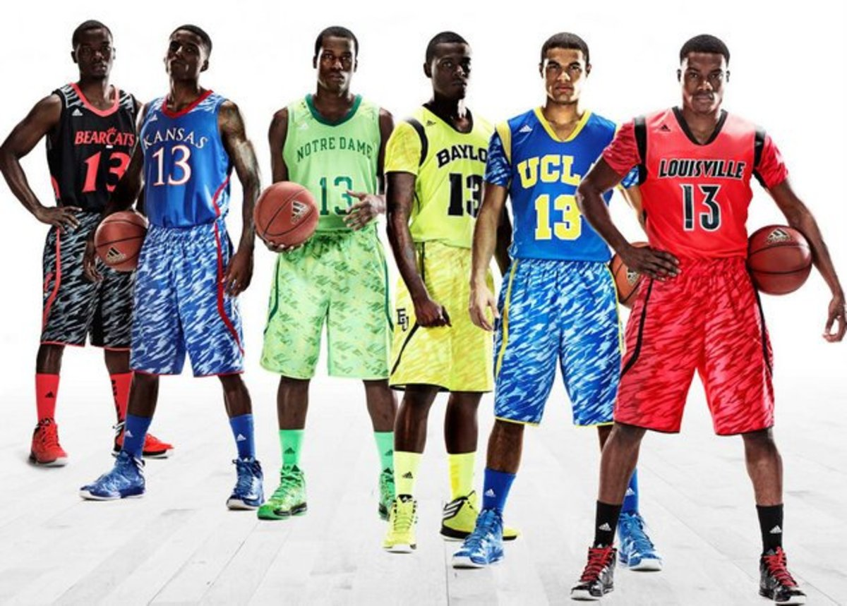 Six Adidas flagship programs are expected to wear these jerseys in March