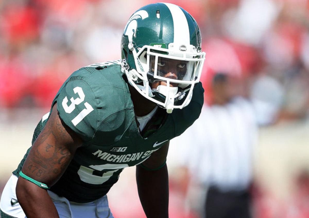 Michigan State cornerback Darqueze Dennard won the Thorpe Award as the nation's top defensive back.