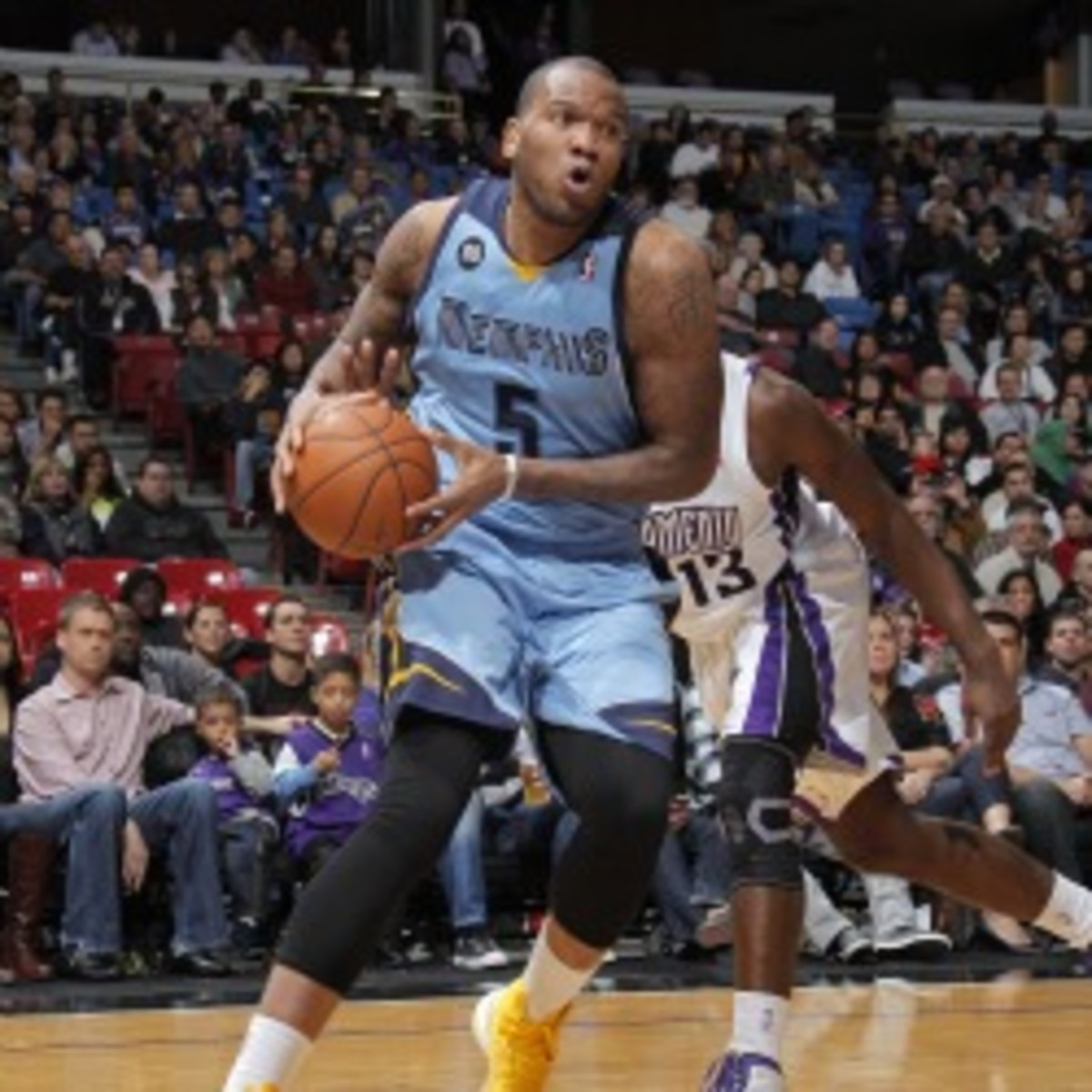 The Grizzlies traded forward Marreese Speights to the Cavaliers. (Rocky Widner/NBA/Getty Images)