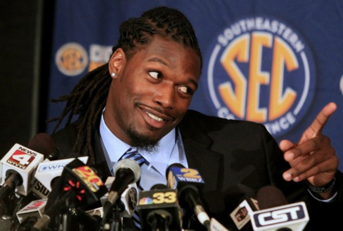 Jadeveon Clowney was a popular interview during the SEC's preseason football media sessions. (Getty Images)