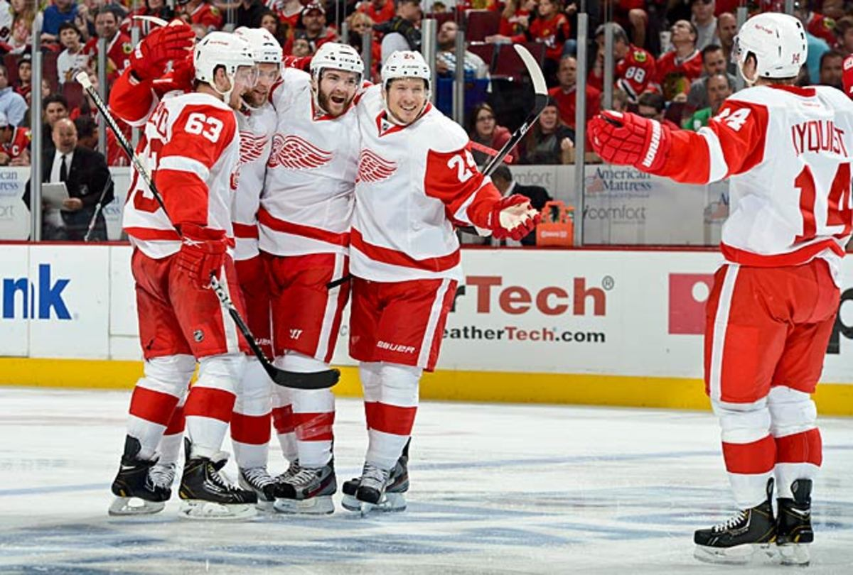 Joakim Andersson (63), Damien Brunner (24) and Gustav Nyquist are among Detroit's nice surprises.