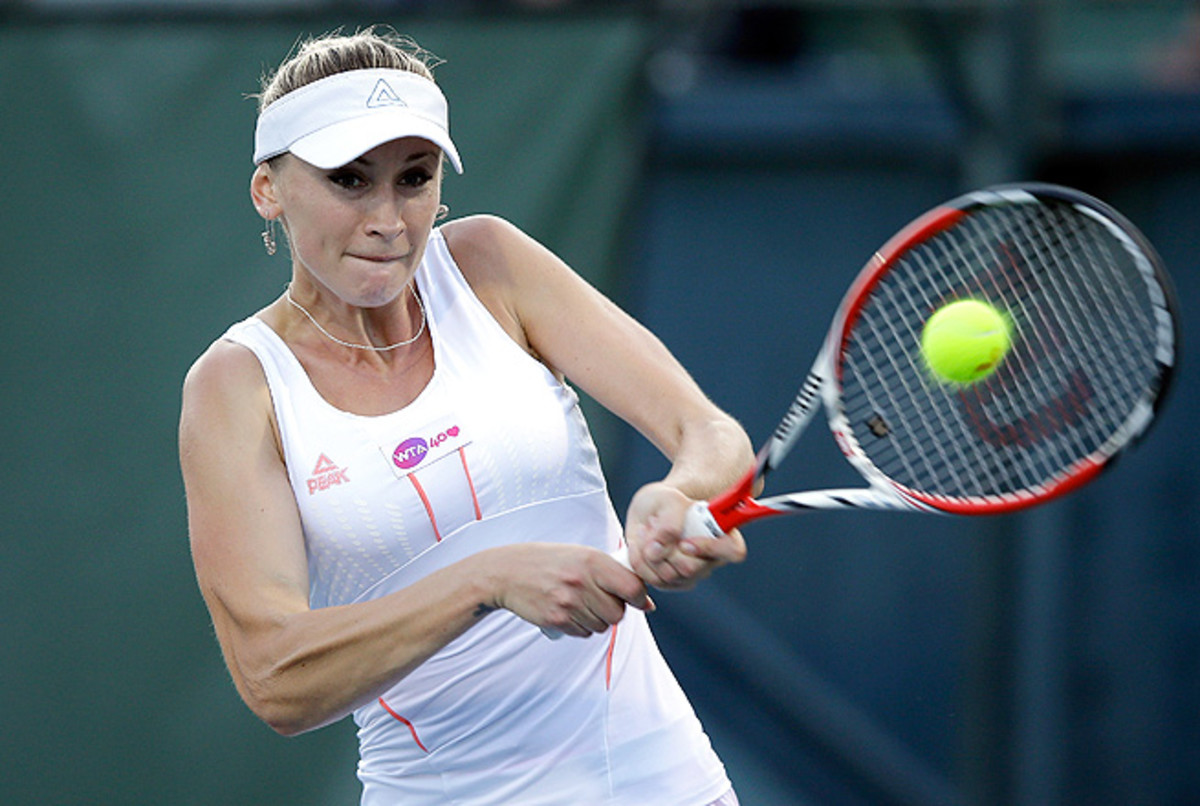 Olga Govortsova's victory over No. 2 seed Sam Stosur was her ninth win over a top-20 opponent since New Haven last year.
